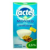Молоко ультрапастеризоване Лактель з вітаміном Д,  2.5 %