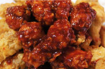 Fried Chicken in Sweet & Spicy Sauce (12pcs) with salad