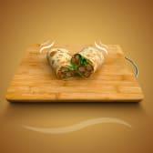 მექსიკური ქათმის ნაგეტსით ლავაშში ყველით