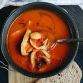 Томатний суп з мрепродуктами (270г)  (пікантна страва)