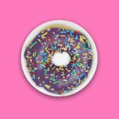 იასამნისფერი რინგი ფანტელებით   Purple Iced with  Sprinkles