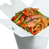 ლაფშა ქათმით ტერიაკის სოუსში / Chicken Noodles With Teriyaki Sauce