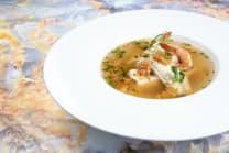 Суп із шотландського лосося та палтуса (250г)