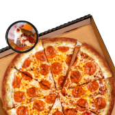 Pizza Borde de Pepperoni y Queso