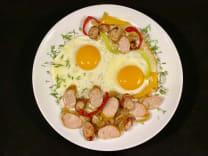 Яєчня з ковбасою (200г)