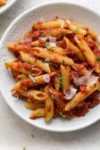 Pasta Arrabiata (red sauce)