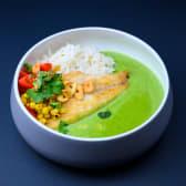 Зелений карі з сібасом та кукурудзою (330г)