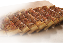 Etli pide: with beef meat