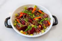 წითელი თინუსის სალათი