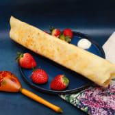 Crepe with strawberry & mascarpone