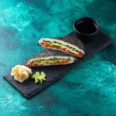 Сендвіч рисовий з лососем (195\70г)