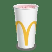 Молочный клубничный коктейль большой (0,6 л.)