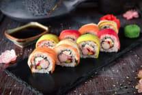 Rainbow Roll - 4 Pcs