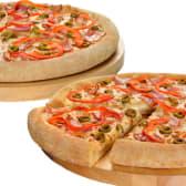 2 pizzas grandes con hasta 3 ingredientes