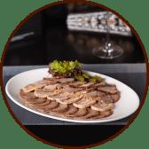 М'ясна тарілка з соусом Бордо (260/50г)