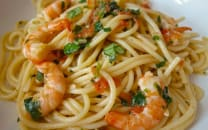 Spaghetti Aux Crevettes Fromage