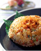 Kimchi Fried Rice with soup