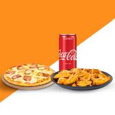 კომბო პიცა ლორით და ყველით/Combo Pizza with Ham&Cheese