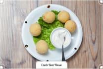 ნუშის ბურთულები ჰოლანდიური ყველით