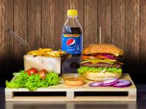 Serowy Wypas + średnie frytki + Pepsi 0.5 L