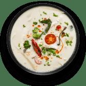 Том Кха Гай з паровим жасминовим рисом