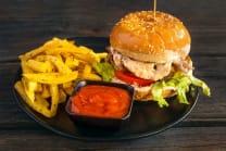 smoky beef burger
