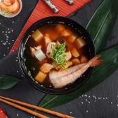 Страва Місо-суп з лососем та креветкою (300г)
