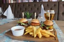 Burger sliders Menu + piće