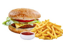 Бургер з курятиною (450г)
