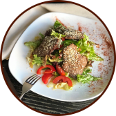 Салат з теплою телятиною (250г)
