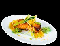 Філе лосося запечене в глазурі з винограду (180/80г)