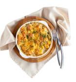 Запечена картопля з беконом в вершках під сирною скоринкою (200г)