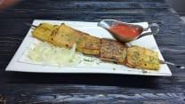 Шашлык - картофель на мангале