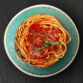 Спагеті з овочами у томатному соусі (300г)