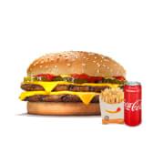 ორმაგი ჩიზბურგერ მენიუ / Double Cheeseburger Menu