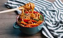 Noodles w Tofu and Veggies
