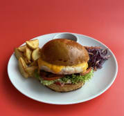Чікен бургер меню (250/100/80/30г)