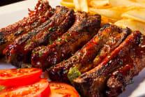 Slow roasted bbq ribs