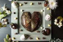 Giant Diamond Heart Chocolate