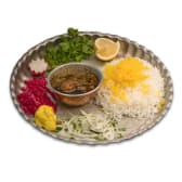 Ghormeh Sabzi Wtew with Rice