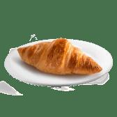 Croissant De Mantequilla Con Mantequilla Y Mermelada