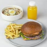 Комбо з Ба бургером, фрі, супом та напоєм (920г)