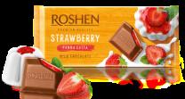 Шоколад Рошен молочний з начинкою Полунична панакота