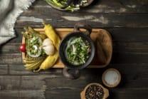 ლობიოს დაფა (მწნილი+მჭადი)