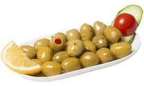 Green olives with peppers