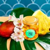 Fruta mango y piña