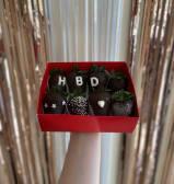 Happy Birthday Metallic, 8pcs