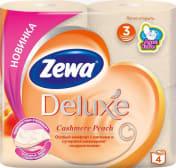 Папір туалетний Zewa Deluxe з ароматом персика 3 шари (4шт)