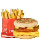 MiniDejun Egg Pui Burger + Cartofi