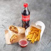Doner міні комбо (Донер з куркою, картопля супер-кранч, Кока кола)